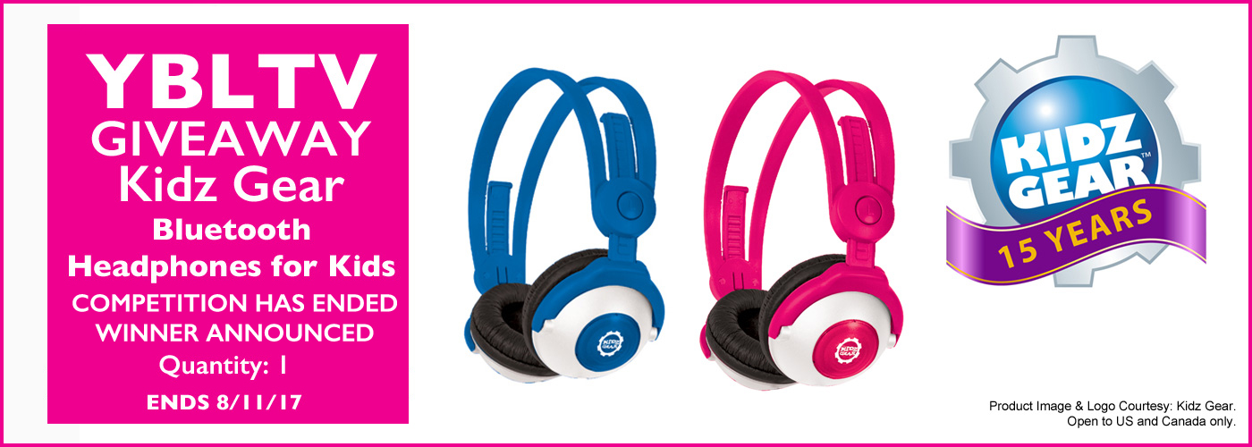 Kidz Gear Headphones Giveaway >> Kidz Gear Bluetooth Wireless Stereo Headphones Review Giveaway
