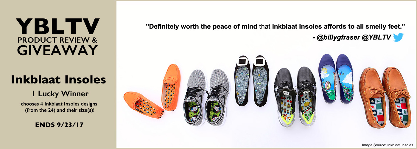 YBLTV Review & Giveaway: Inkblaat Insoles.