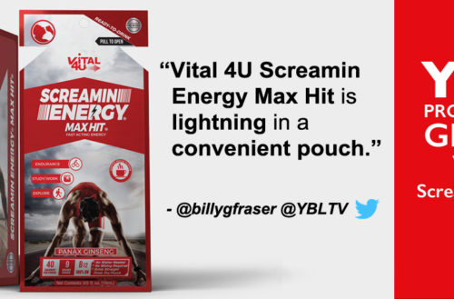 YBLTV Giveaway: Vital 4U® - Screamin Energy Max Hit