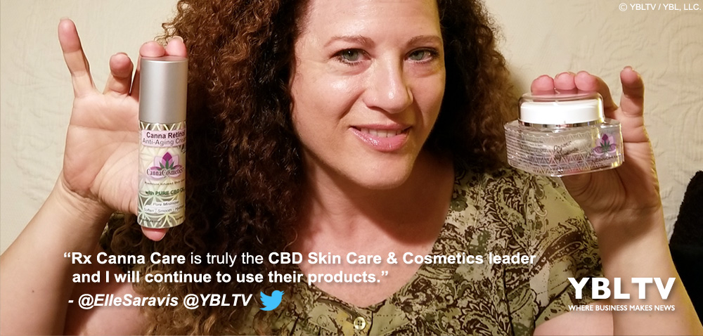 YBLTV's Ellen Saravis Reviews Rx Canna Care's Canna Cosmetics™ and Relax Organics™.
