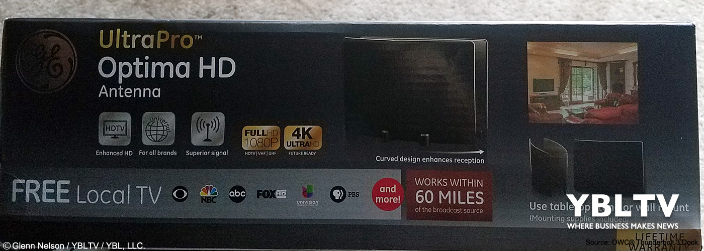 Ultra Pro Optima HD Antenna by GE. YBLTV Review by Glenn Nelson.