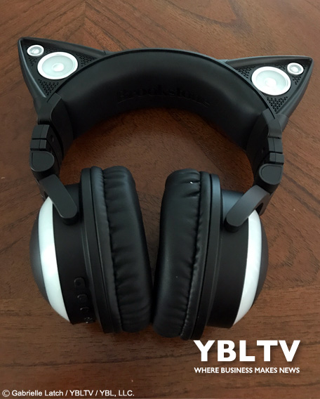 Cat Ear Headphones by Axent Wear. YBLTV Review by Gabrielle Latch.
