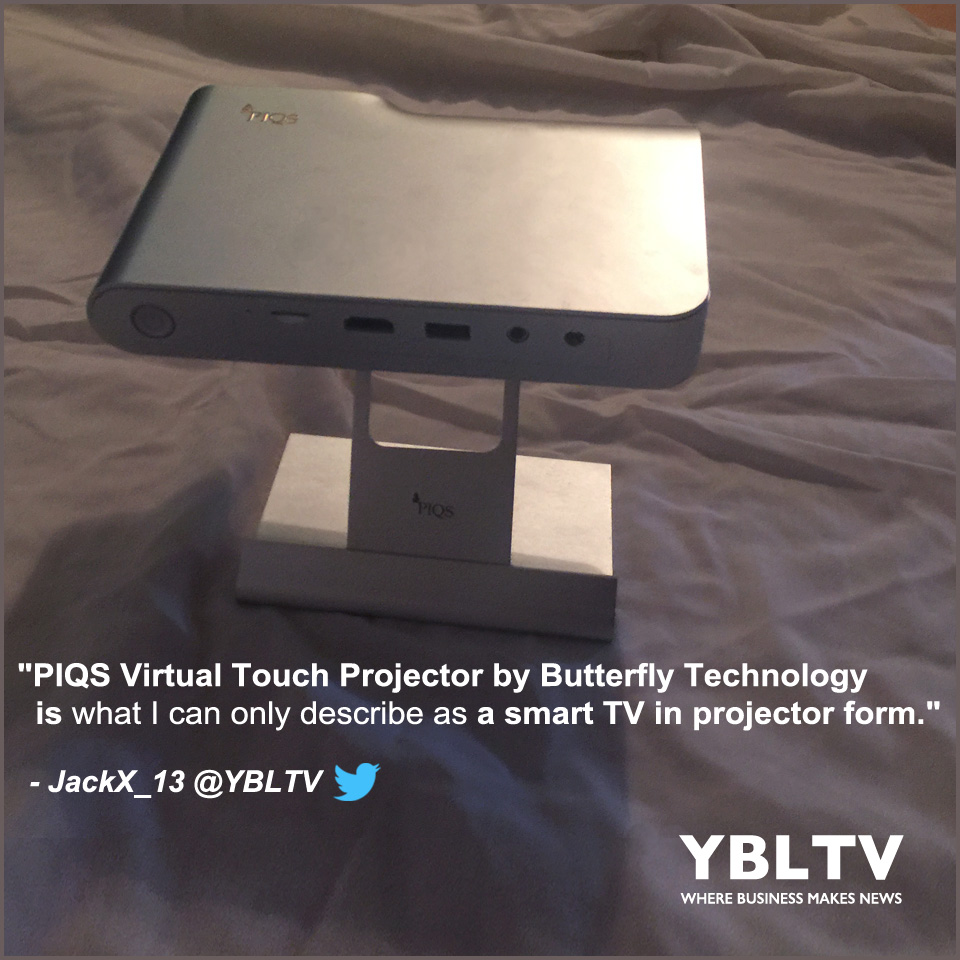 PIQS Virtual Touch Projector by Butterfly Technology. YBLTV Review by Jack X.