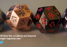 YBLTV Review: KakapopoTCG's Metal D30 Dice Set