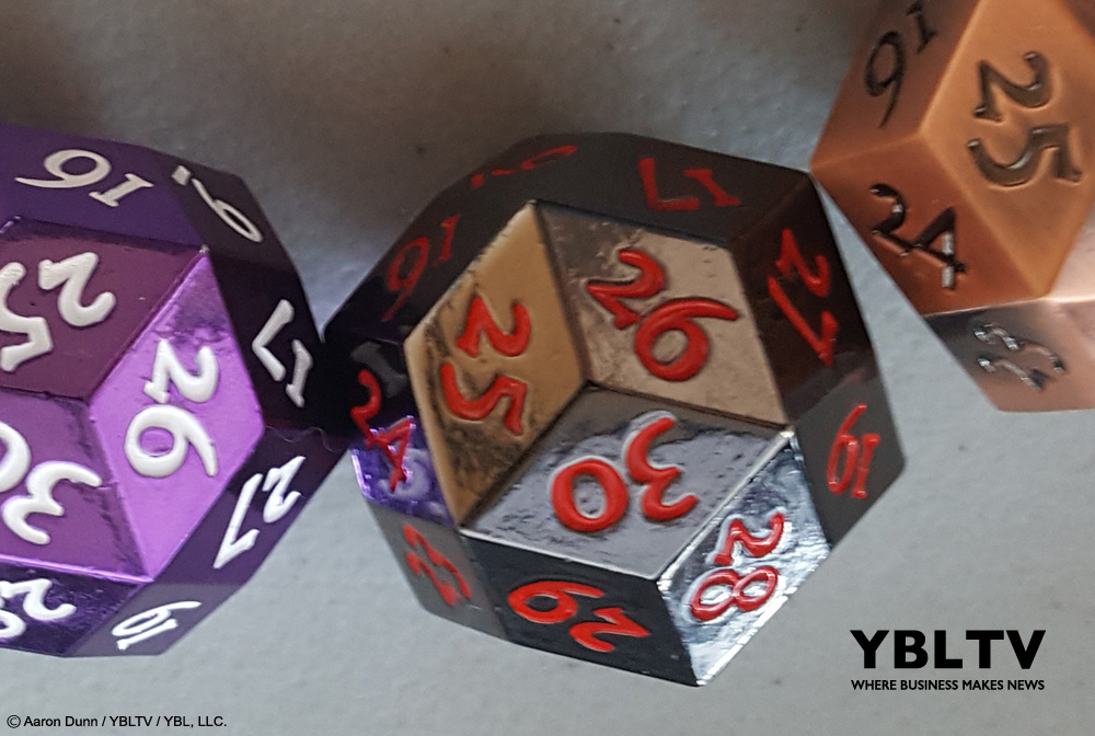 YBLTV Review: KakapopoTCG's Metal D30 Dice Set.