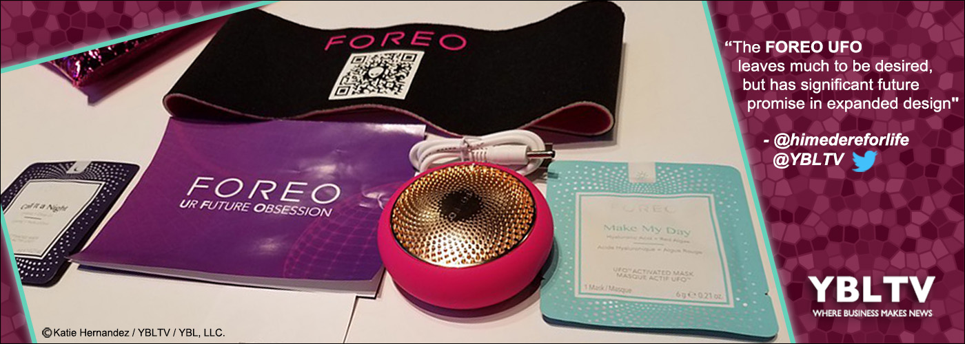 FOREO UFO at CES 2018. YBLTV Review by Katie Hernandez.