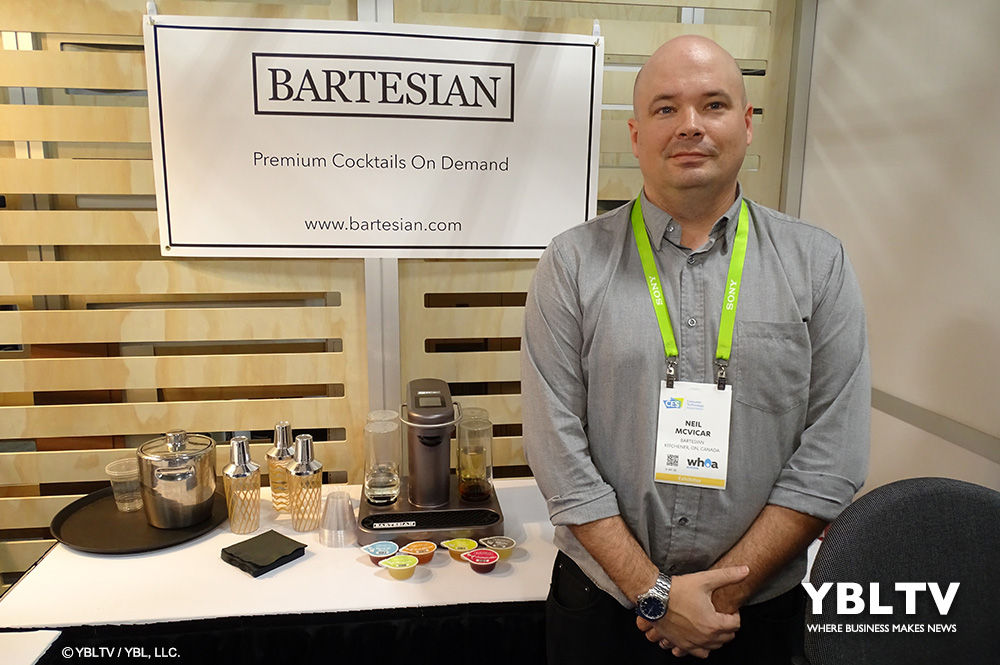Bartesian Customer Success Manager, Neil McVicar at CES 2018.