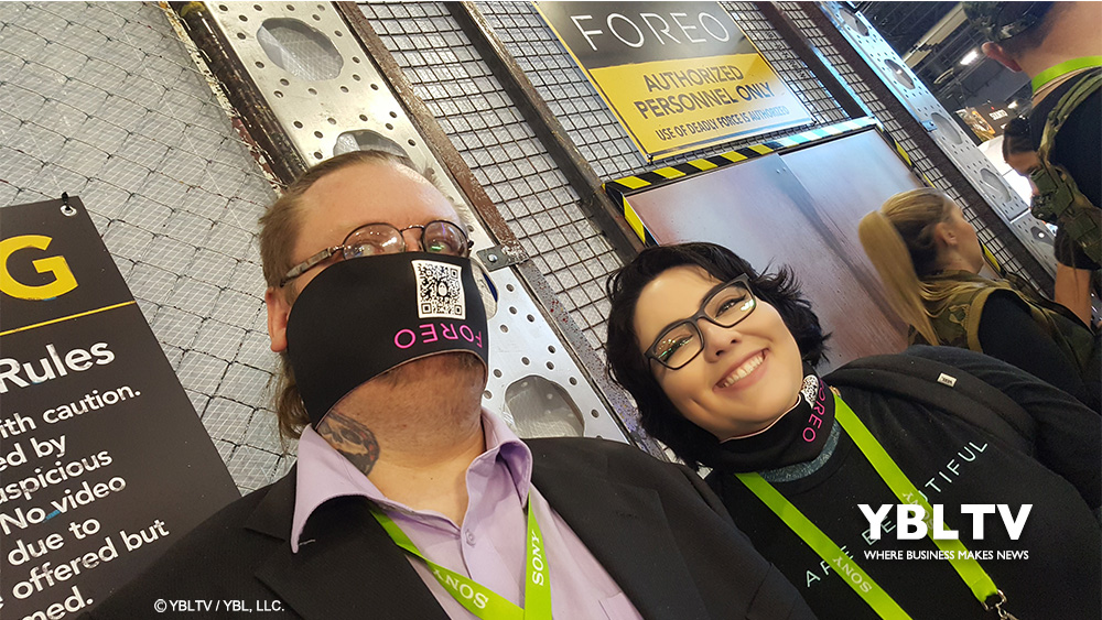 YBLTV Writer / Reviewers, Jack X and Katie Hernandez at FOREO UFO, CES 2018.