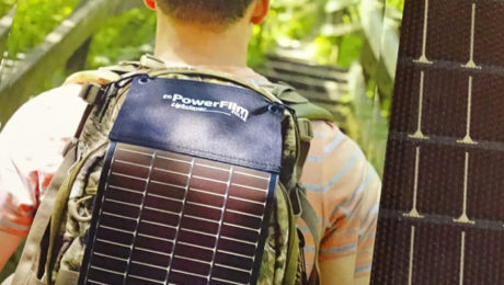 PowerFilm Solar at CES 2018.