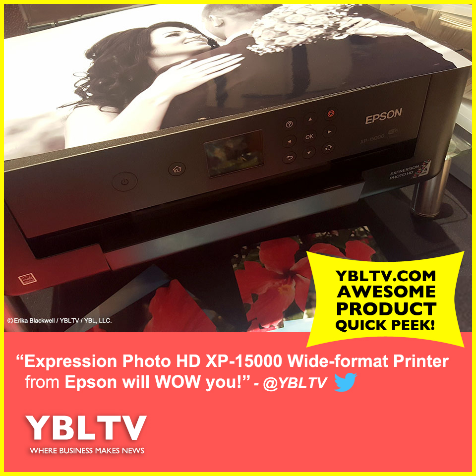 Epson Expression Photo HD XP-15000 Wide-format Printer wows at CES 2018.