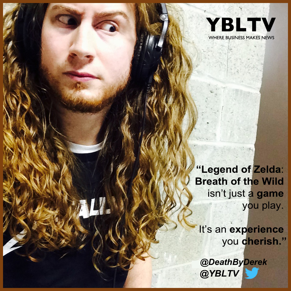 The Legend of Zelda: Breath of the Wild. YBLTV Review by Derek Buck.