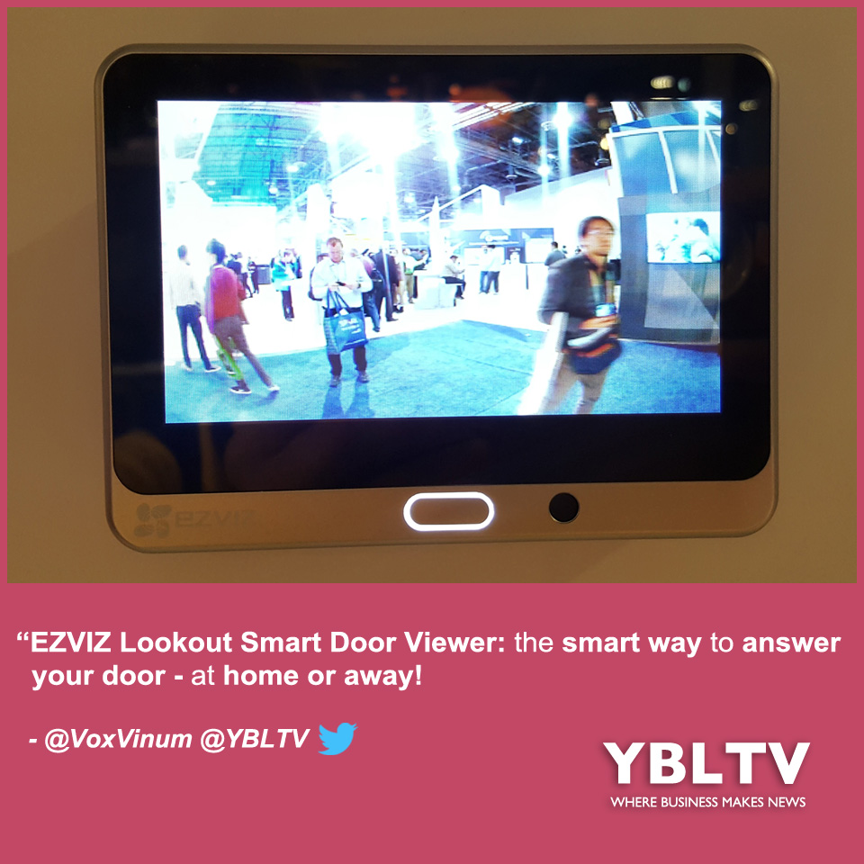 EZVIZ Lookout Smart Door Viewer at CES 2018.