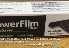 PowerFilm Solar LightSaver. YBLTV Review by Patrick Mackey