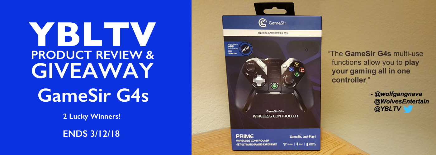 YBLTV Product Review & Giveaway: GameSir G4s