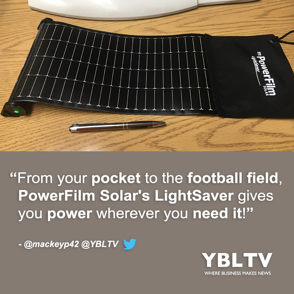 PowerFilm Solar LightSaver. YBLTV Review by Patrick Mackey.