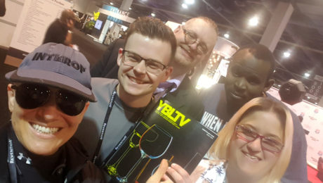 YBLTV Magazine Launch with YBLTV TEAM: Anchor, Erika Blackwell, Writer / Reviewers, William Fraser, Jack X, Washington Thompson III and Photographer / Writer / Reviewer, Kim Rose at NCB 2018.