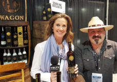 YBLTV Anchor & Writer / Reviewer, Brandy Falconer with Nevada H&C Distilling's Aaron Chepenik at the 2018 Nightclub & Bar Show in Las Vegas, Nevada.