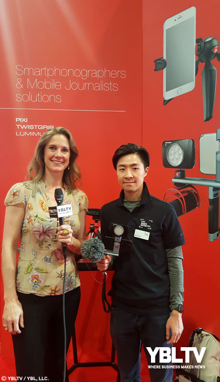 Vitec Imaging Distribution, Inc.'s, Product Marketing Director, Paul Tsang chats with YBLTV Anchor / Writer / Reviewer, Brandy Falconer at NAB Show 2018.