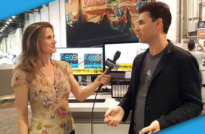 OWC, Founder & CEO Lawrence O'Connor with YBLTV Anchor / Writer / Reviewer, Brandy Falconer at NAB 2018.