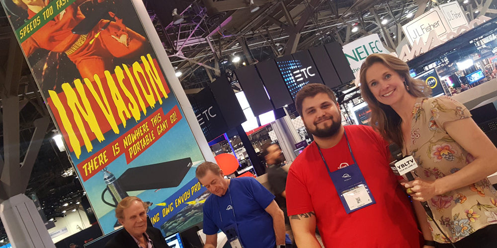 OWC's Product Development Engineer, Luke Engstrom chats with YBLTV Anchor / Writer / Reviewer, Brandy Falconer at NAB 2018.