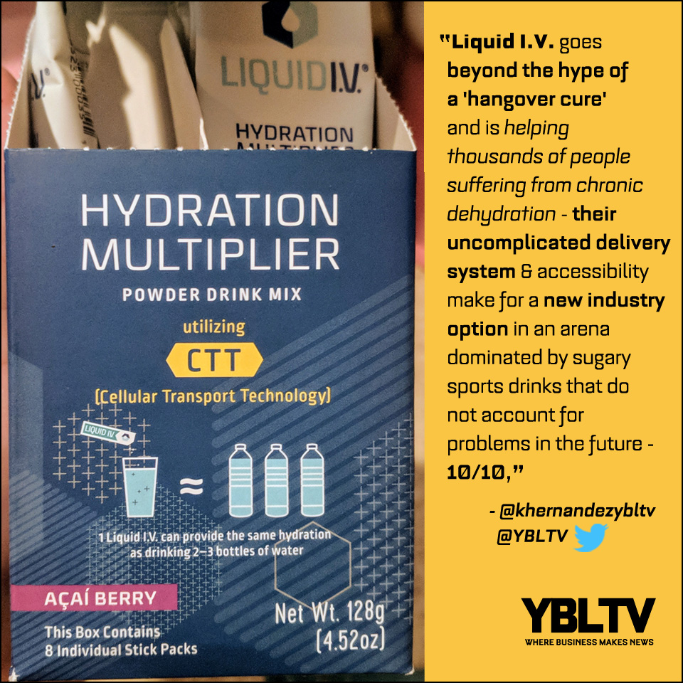 Liquid I.V. Hydration Multiplier. YBLTV Review by Katie Hernandez.