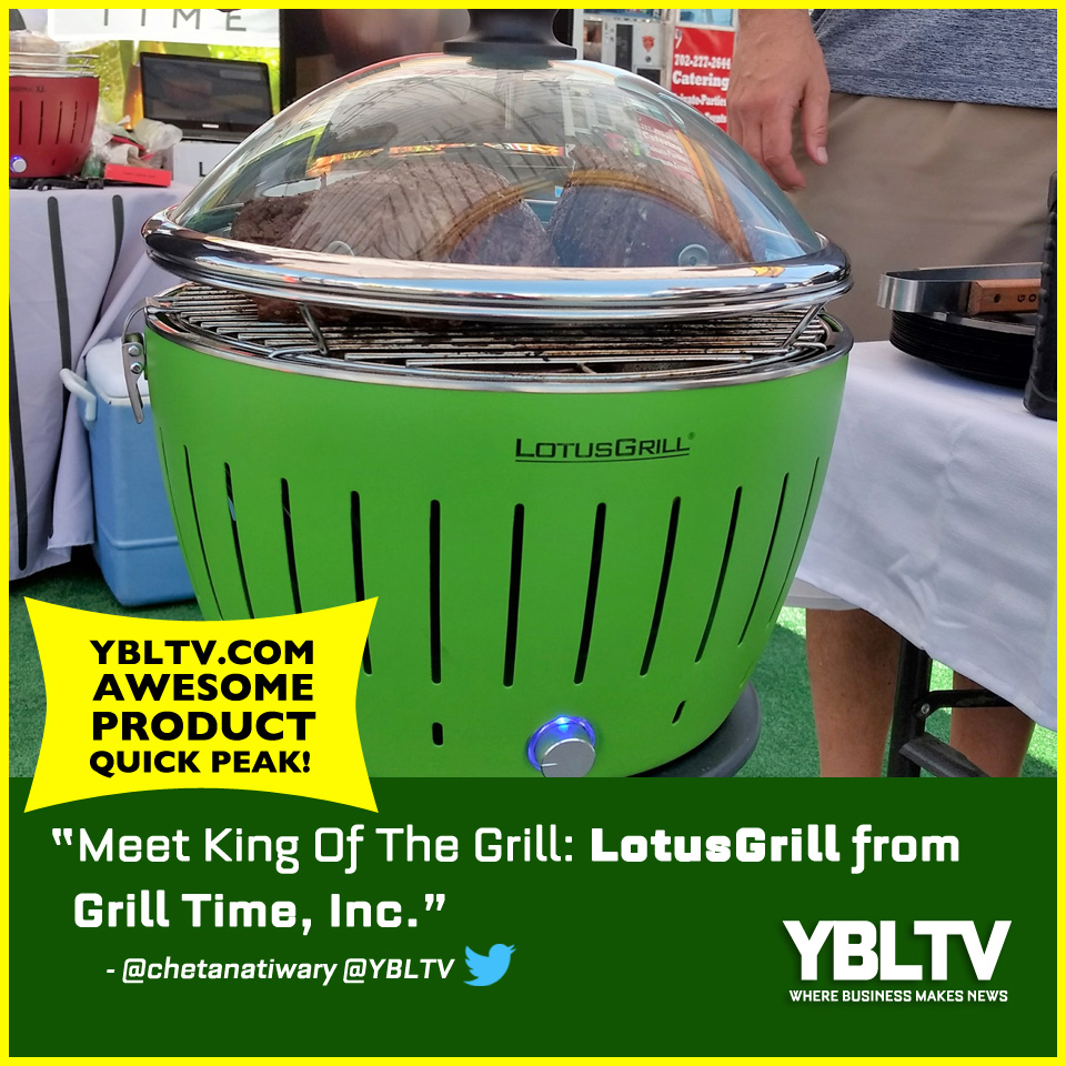 Grill Time Inc., LotusGrill. YBLTV Awesome Product Quick Peek by Chetana Tiwary.
