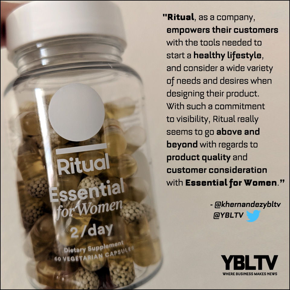 Ritual Essential Multivitamin for Women. YBLTV Review by Katie Hernandez.