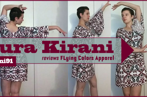 Flying Colors Apparel - Bell Sleeve Dress. YBLTV Review by Laura Kirani.