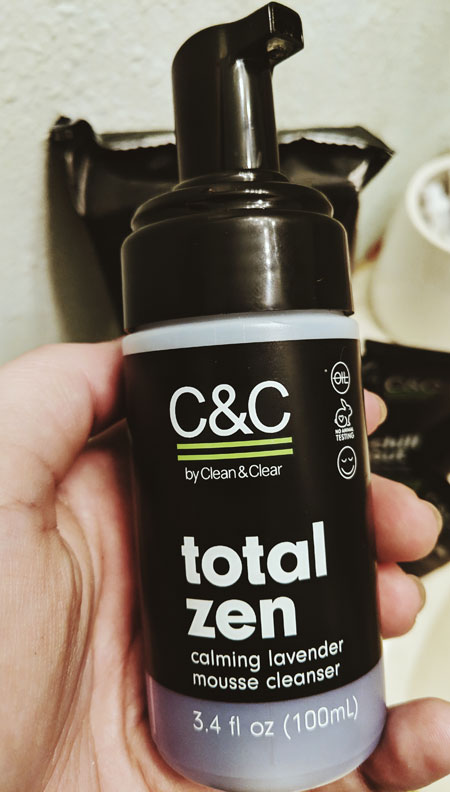 C&C Total Zen Lavender Mousse Cleanser. YBLTV Review by Katie Hernandez.